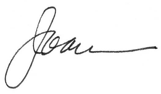 Joan Mathison signature